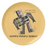 Placa del robot del Pokey de Hokey Plato Para Fiesta