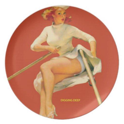 """Placa del Rowing - modela. """"Cavando profundamente  Plato"""