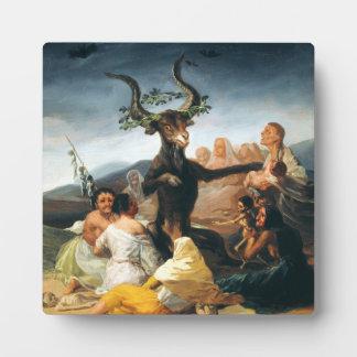Placa del Sabat de las brujas de Goya