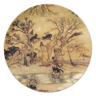 Placa del Sabat de las brujas Platos De Comidas