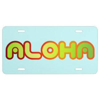 Placa del saludo de Hawaii de la hawaiana