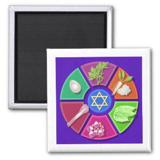 placa del seder imán cuadrado