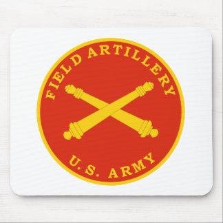 Placa del sello de la artillería de campaña tapete de ratón