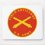 Placa del sello de la artillería de campaña tapete de raton