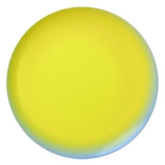 Placa del servicio de mesa de la melamina del ecli plato