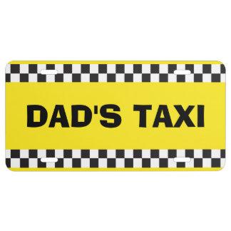 Placa del servicio del taxi del papá placa de matrícula
