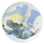 Placa del Splashdown del Egret Plato De Comida