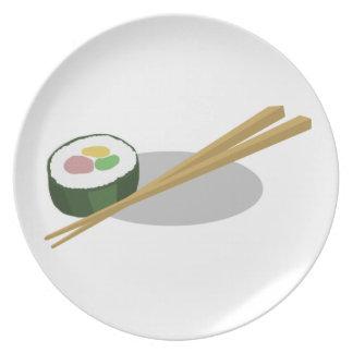 Placa del sushi plato