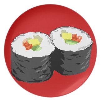Placa del sushi platos