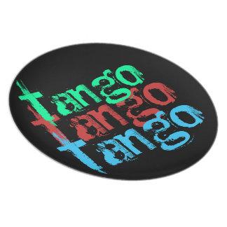Placa del tango plato de comida