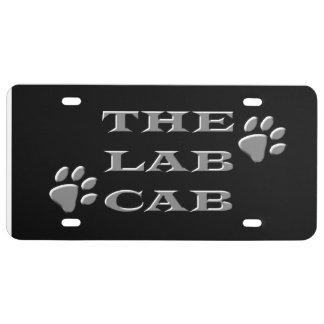 Placa del taxi del laboratorio placa de matrícula