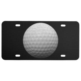 Placa del tema de la pelota de golf placa de matrícula