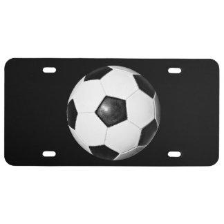 Placa del tema del balón de fútbol placa de matrícula