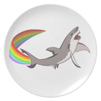 Placa del tiburón de Nyan Plato De Cena