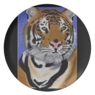 Placa del tigre platos