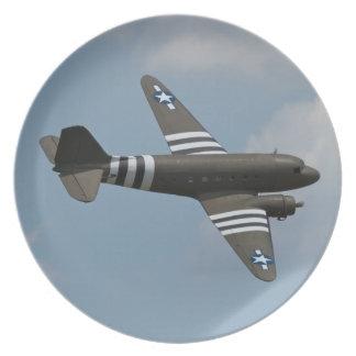 Placa del transporte del C-47 Platos De Comidas