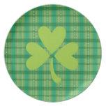 Placa del trébol del día de St Patrick del trébol  Plato De Cena