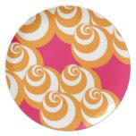 Placa del vórtice (magenta/naranja) plato