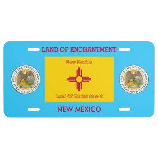 Placa delantera de encargo de New México Placa De Matrícula