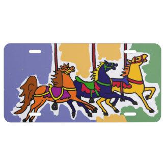 Placa delantera de los caballos del carrusel placa de matrícula