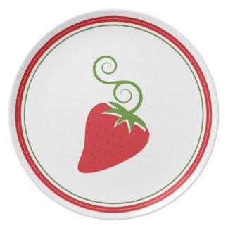 Placa deliciosa de la fresa platos de comidas