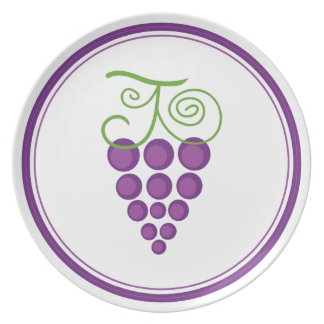 Placa deliciosa de las uvas plato para fiesta