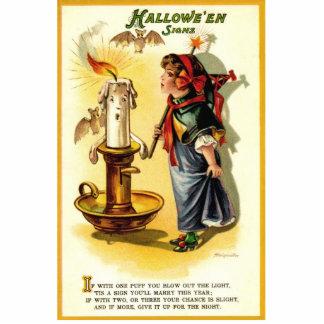 Placa derecha de Halloween de la antigüedad del vi Esculturas Fotograficas
