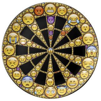 Placa divertida de la porcelana de las emociones plato de cerámica