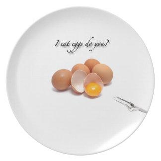 Placa divertida plato para fiesta