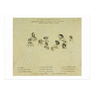 Placa dominante al retrato de la familia real en O Tarjeta Postal