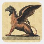 Placa educativa de la mitología calcomanía cuadradase