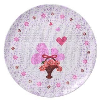 Placa el día de San Valentín Platos