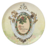 Placa elegante del navidad 2011 del vintage plato