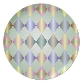 Placa en colores pastel brillante del modelo del d platos para fiestas