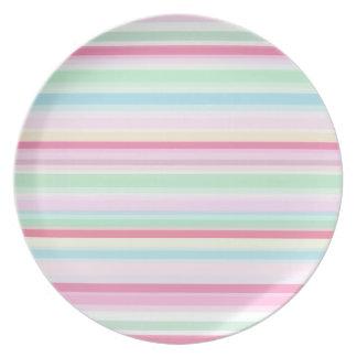 Placa en colores pastel de la melamina del modelo  plato