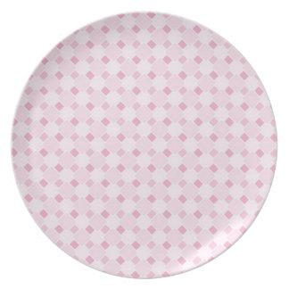 Placa en colores pastel retra dulce del modelo de  plato