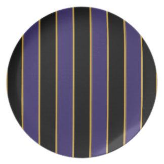 Placa encantador rayada plato