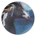 placa equina del regalo del caballo del alcohol platos para fiestas