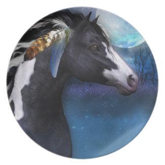 placa equina del regalo del caballo del alcohol plato de cena