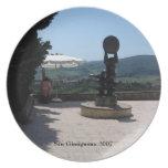 Placa - escultura sobre San Gimignano Plato