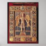 Placa esmaltada que representa el arcángel Michael Posters
