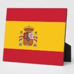 Placa española de la bandera
