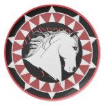 Placa española del Equestrian del semental Plato