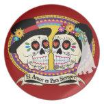 Placa (española) del Los Novios Platos De Comidas