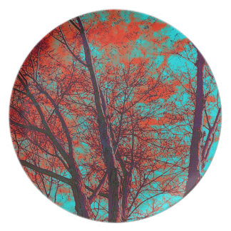 Placa espiritual de las ramas plato