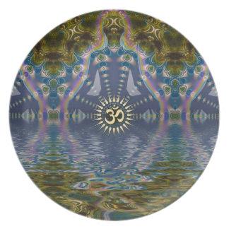 Placa espiritual del arte de Chakra del fractal de Platos