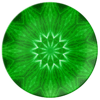 Placa espiritual del ritual de la mandala de la en platos de cerámica