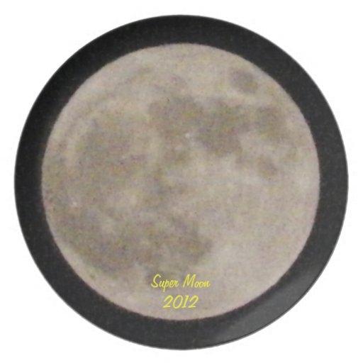 Placa estupenda de la luna 2012 platos