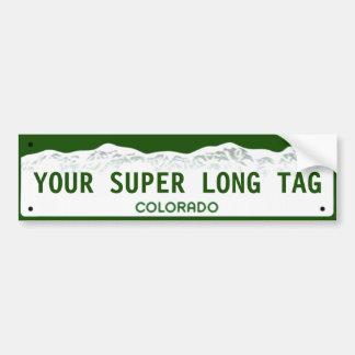 Placa Estupendo-ancha de encargo de Colorado Pegatina Para Auto