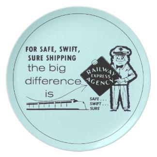 Placa expresa 1959 de la melamina de la agencia platos